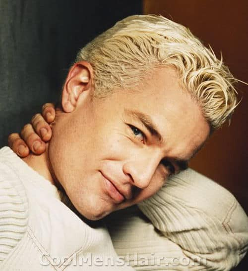 Photo of James Marsters platinum blonde hair.