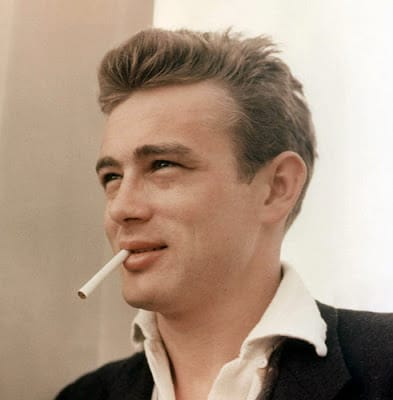 Men's hairstyle from James Dean