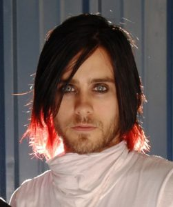 Jared Letto long hair with red streaks