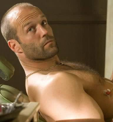 Statham short buzz cut