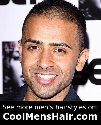 Picture of Jay Sean buzz cut hairstyle.