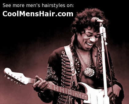 Cool Afro hairstyle from Jimi Hendrix.