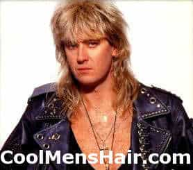 Image of Joe Elliott mullet hairstyle.