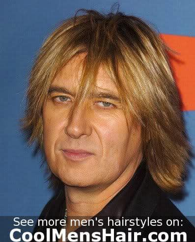 Picture of Joe Elliott shag haircut.