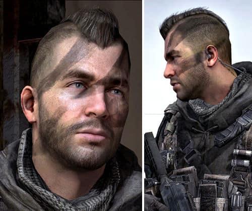 Photo of John MacTavish warhawk hairstyle.