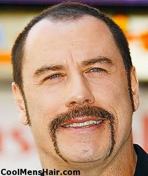Picture of John Travolta horseshoe mustache.