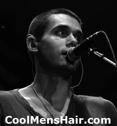 Picture of John Mayer crew cut hairstyle.