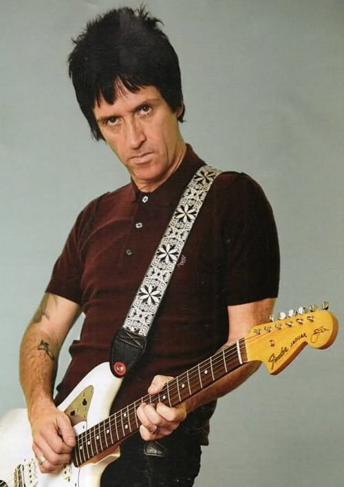 Image of Johnny Marr with black hair.