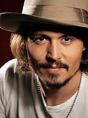 Johnny Depp mustache and goatee