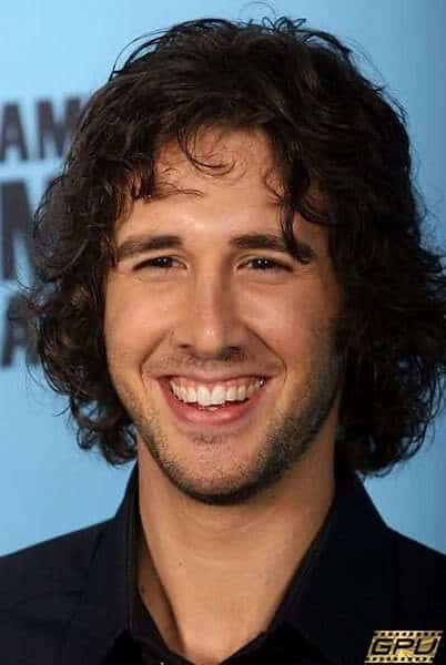 Josh Groban curly hair