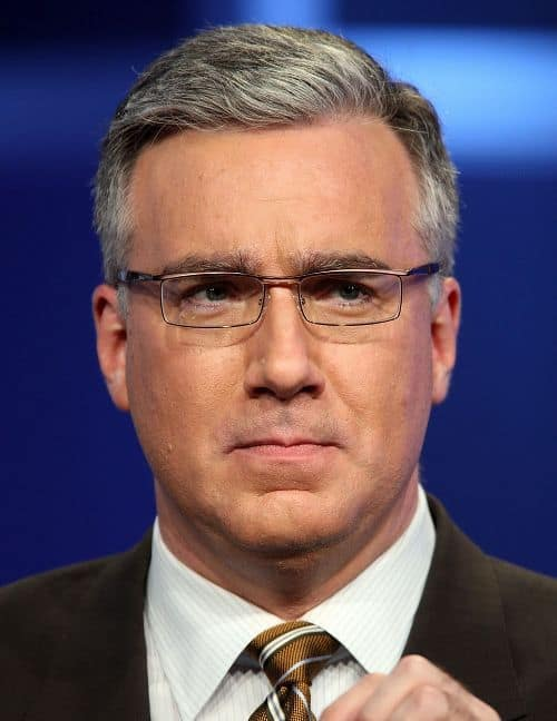 Photo of Keith Olbermann hairstyle.