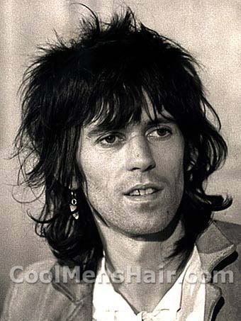 Keith Richards long hairstyle picture.