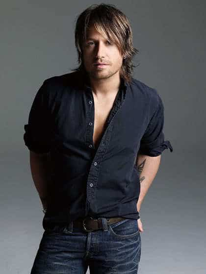 Keith Urban layered hairstyle