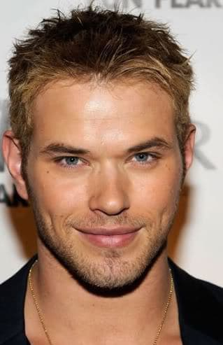 Photo of Kellan Lutz male short hairstyle.