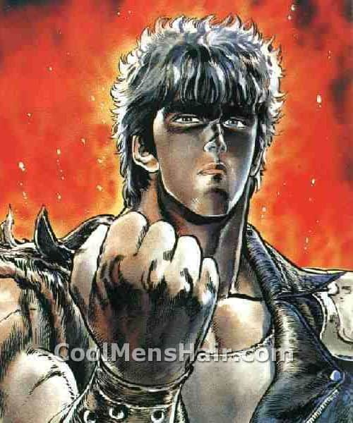 Image of Kenshiro hairstyle.