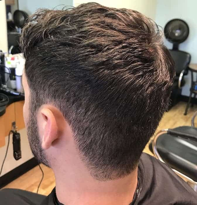 Men's Layered Hairstyle with Taper sides
