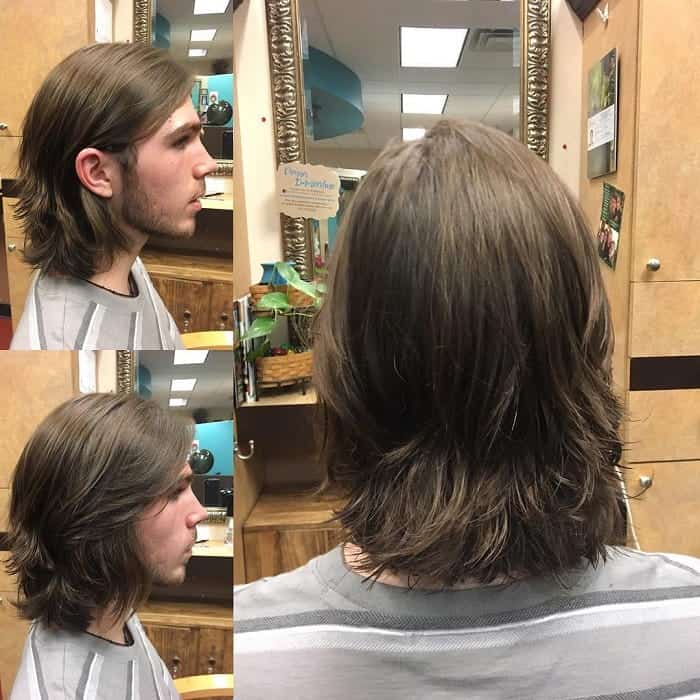 layered medium length hair
