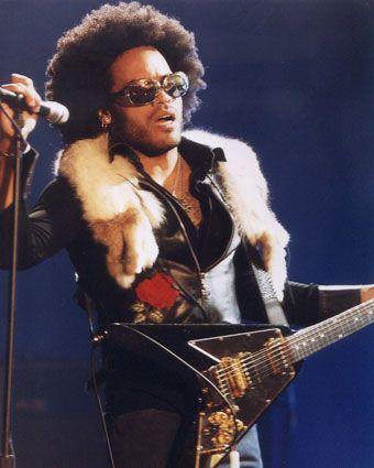 Photo Lenny Kravitz afro hair.