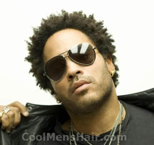 Photo of Lenny Kravitz well-coiffed afro hairstyle.
