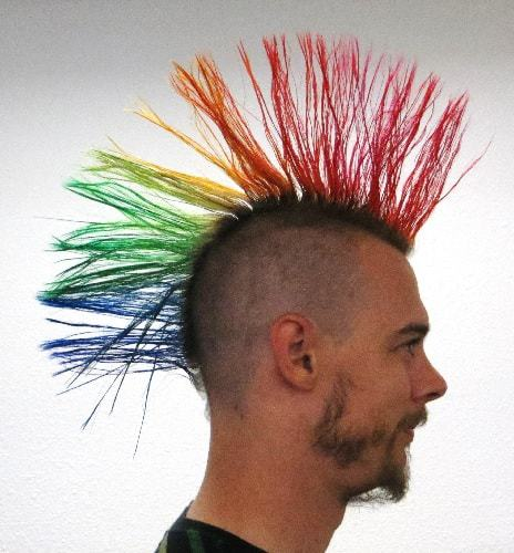 Rainbow colored liberty spike for men