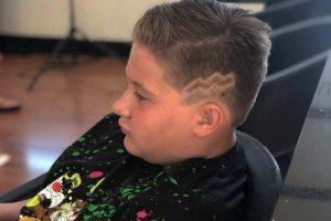 lightning bolt haircut for boys
