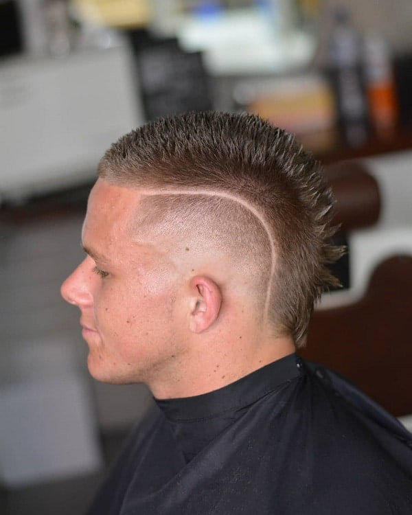 Line Haircut with Skin Fade