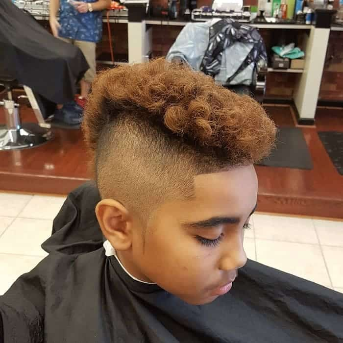 little black boy with mohawk haircut