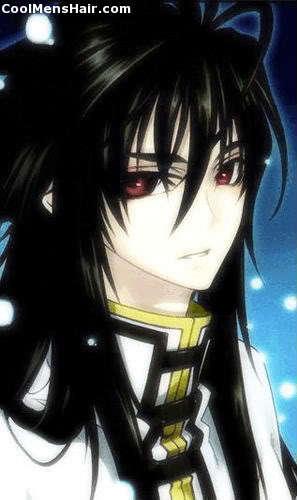 Long black 'bedhead' hair.