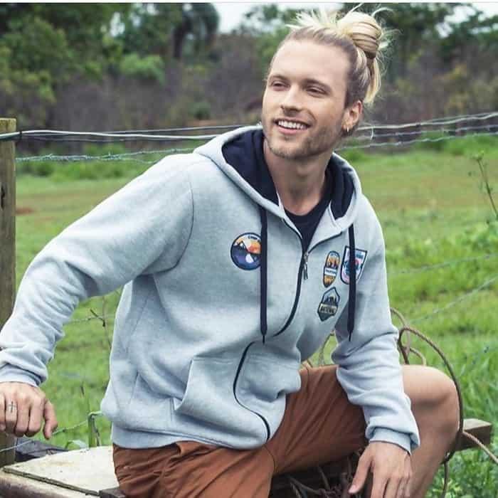 blonde man bun