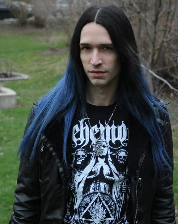 Long Blue Hair For Guys