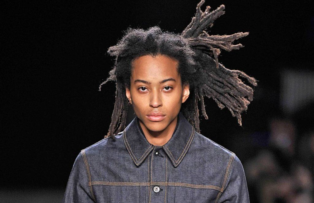 long braided hairstyle for black men