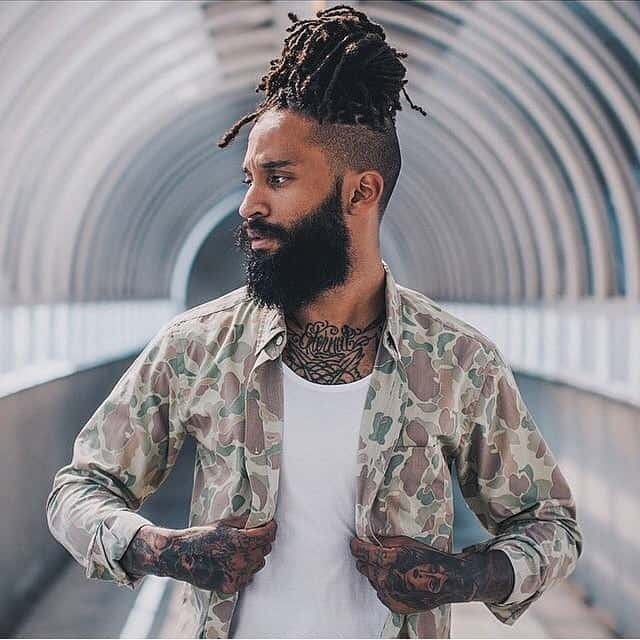 braided bun for black men