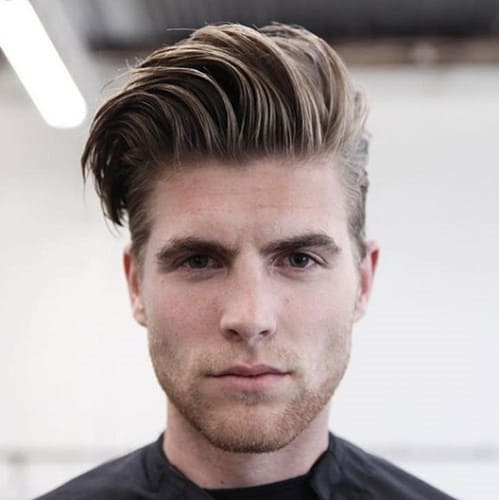 traditional long comb over hairstyle