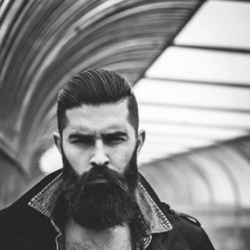 long comb over with slick back hairstyle