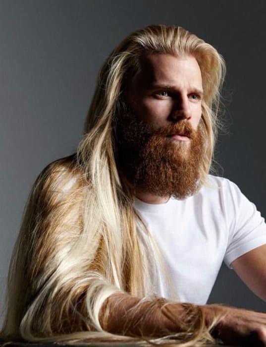 long hair and beard style