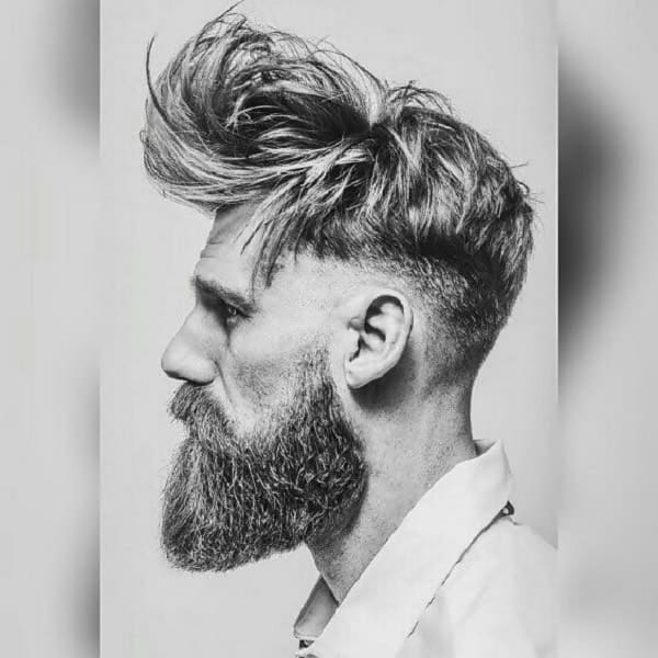 messy long undercut for men