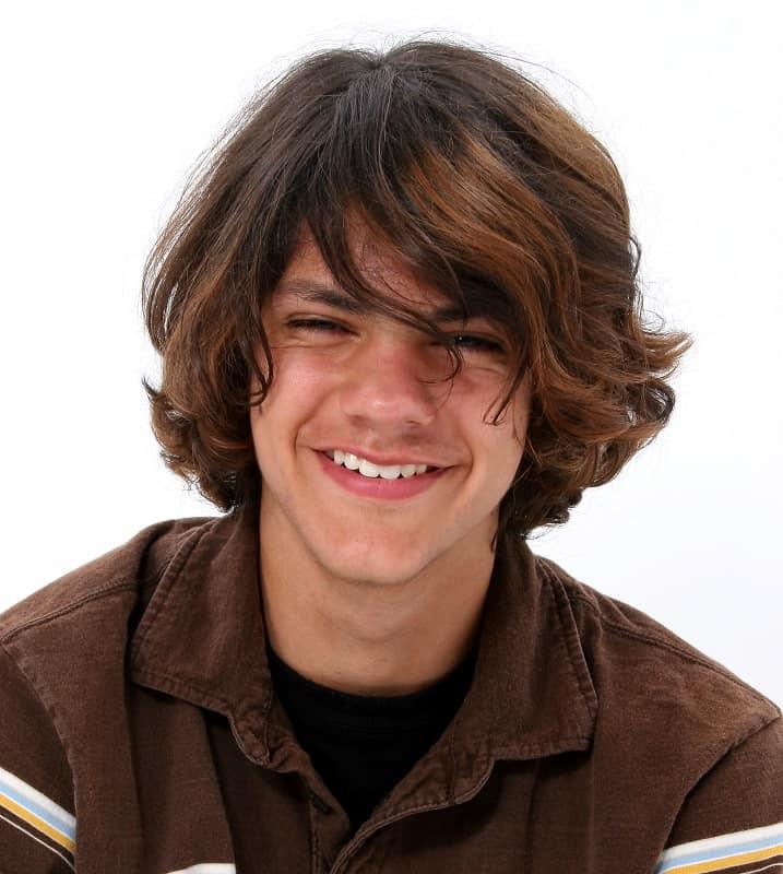corte de pelo largo para adolescentes