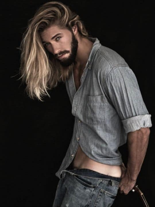 men's favorite Long Hair and short length Beard