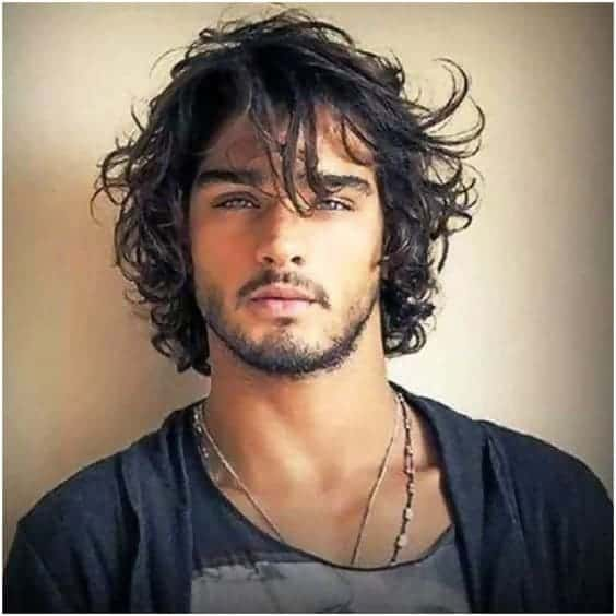 curly long layered haircuts for men