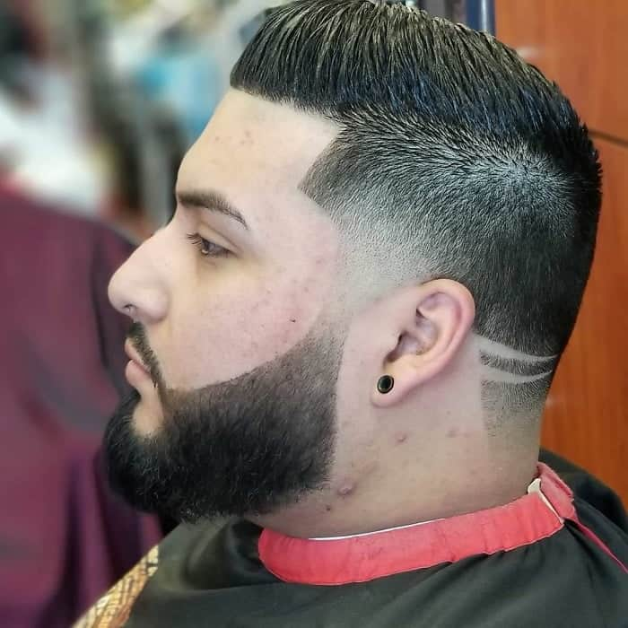 blowout fade with comb over