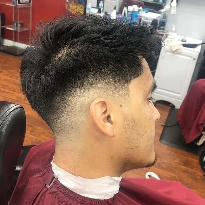 low drop fade for textured hair