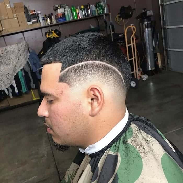low drop fade with design