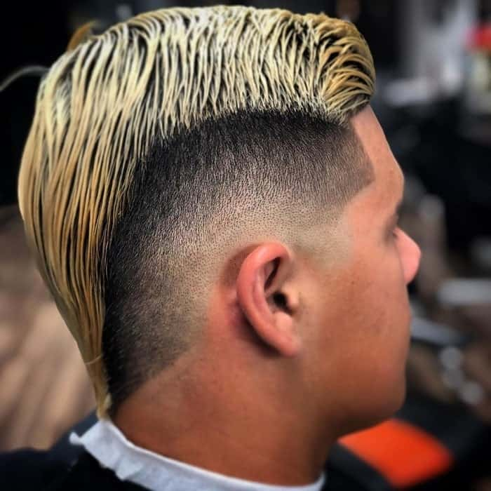 mohawk with low drop fade