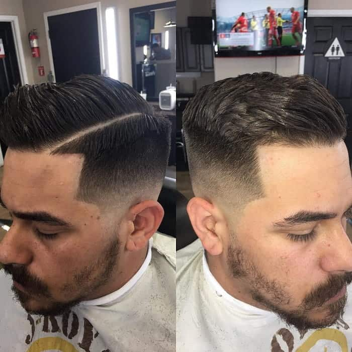 Classic Low Fade Comb Over Hairstyle