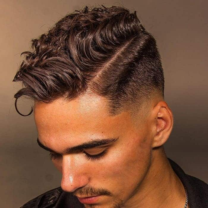 low fade curly hairstyles for men