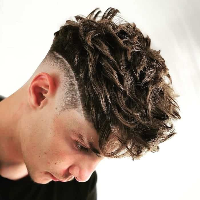 spiky long hair with low fade