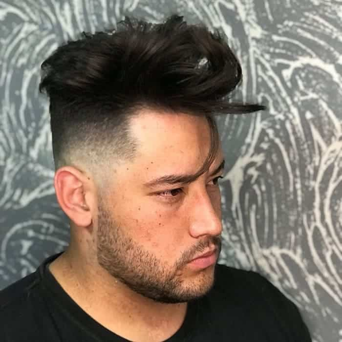 low fade haircut for men with long hair