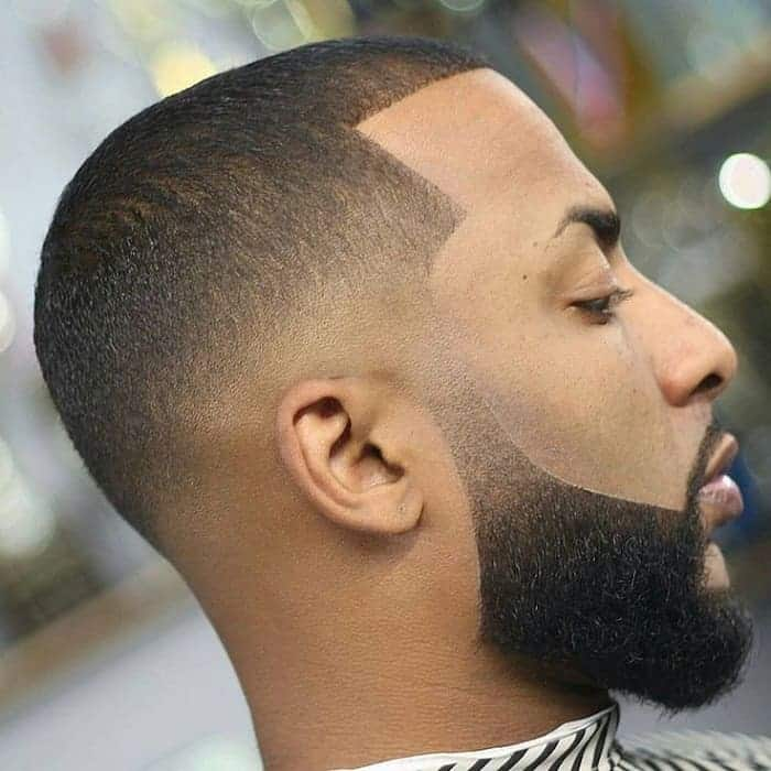 black guy with low fade haircut