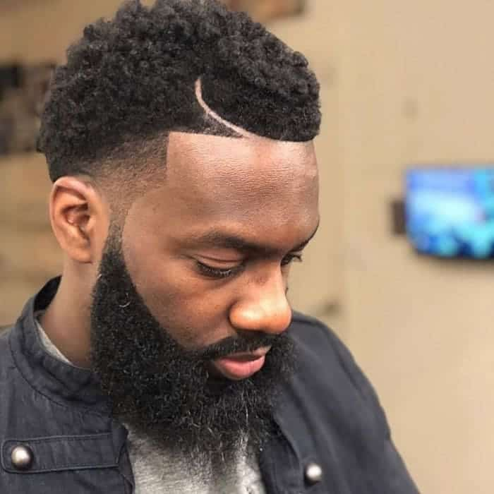 low fade haircut with twists