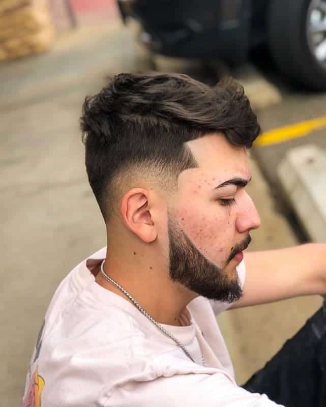 long hairstyles with low fade for men